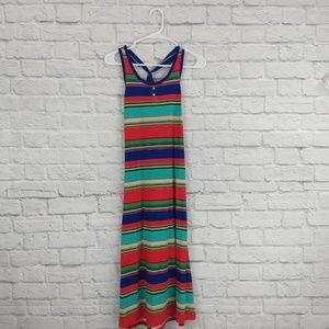 Ralph Lauren  Multi-Color Striped Maxi Dress